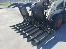 """72"""" HD ALL 1/2"""" Root Grapple Bucket skid steer quick connect"""