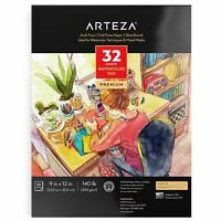 "Arteza Premium Watercolor Pad, 9"" x 12"", 32 Sheets"