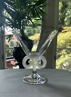 Lalique Aries Crystal Compote Rams Head Post-1978 Signed: Lalique France MINT!