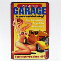 Vintage Retro Metal Tin Sign Poster Garage Bar Home Wall Decor Service Sign