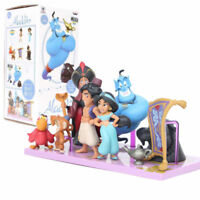 8pcs Disney Aladdin Lamp Action Figures Doll Kids Playset Toy Cake Topper Decor