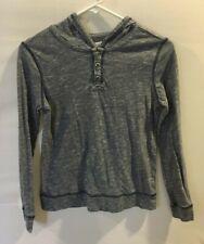 Ruum American Kids Wear Boys Blue Hooded Shirt Top Sz L 12 J1