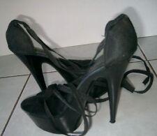 Stiletto Solid Open Toe Clubwear Women's Heels