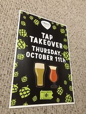 Troegs Brewery Nugget Nectar Tap Takeover Promo Poster Hershey Pa Beer Firkin!