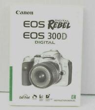 Canon EOS Rebel / EOS 300D Camera Instruction Manual English VGC (486)