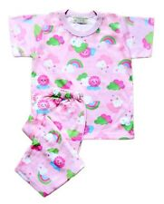 Girls Baby/Toddler Pink Smiling Sun Printed Pajama Set Sleepwear, XXS (1-2 y/o)