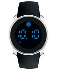 Movado Bold Digital Touch Stainless Steel Black Silicone Band Mens Watch 3600146