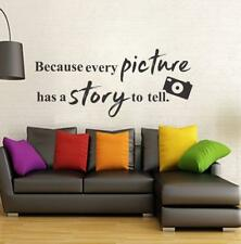 Picture Quotes With Camera Wall Sticker Quote Words Decal Vinyl Decor Mural