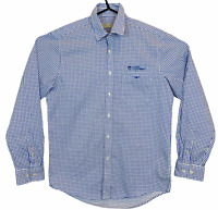 RM Williams Mens Blue Check Long Sleeve Button Up Business Shirt Size S