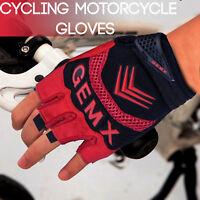 Men Cycling Gloves Gel Padded Half Finger Bicycle Fingerless Sports Bike Gloves
