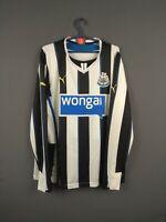 Newcastle United jersey 2013 2014 Long Sleeve L Shirt Home Puma Football ig93