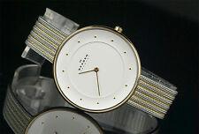 Women's SKAGEN Gitte Gold Plated Two-tone Oversized Mesh Watch SKW2242