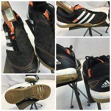 Adidas Sala Indoor Soccer Shoes Sz 9 Black X vs X EUC YGI H9S-43