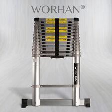 WORHAN® 4.4m Telescopic Extendable Multipurpose Aluminium Ladder ALUMINIUM RINGS