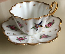 Royal Stuart/Spencer Stevenson Masonic China Teacup/Saucer-Order Eastern Star