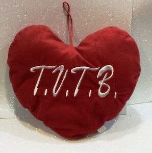 SAN VALENTINO AMORE CUORE IN PELUCHE TVTB T.V.T.B. PLUSH HEART 25 CM