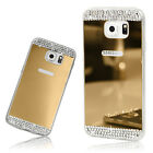 Custodia Cover Silicone TPU Specchio Luminosa Sottile con Strass Bling Diamanti