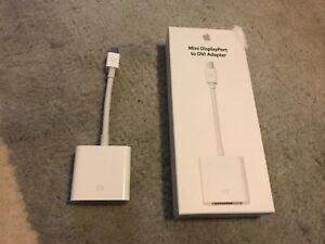 Apple Mini Displayport To DVI Adapter OEM Original Box MB570LL/B A1305