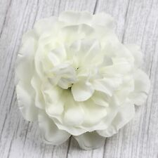 "4"" 12Pcs-White Peony Silk Flowers Large Artificial Flower Heads for Home Decor"