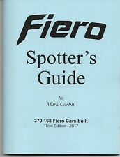 Pontiac Fiero Spotters Guide- NEW BOOK