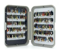 G Fly Box + Mixed Assortment of Nymph Trout Fishing Flies Qty 10 25 50 100