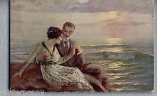Coppia Romantica Love Romance Glamour Girl PC Circa 1915