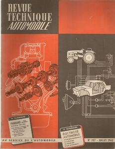 REVUE TECHNIQUE AUTOMOBILE 207 RTA 1963 PANHARD TS MODELE EVO 61 63 PL17 TIGRE