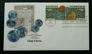 [SJ] USA Banking & Commerce 1975 Currency Coin Money Finance (stamp FDC)