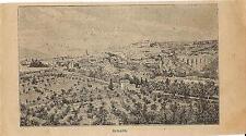 Stampa antica SPOLETO veduta panoramica Perugia Umbria 1899 Old antique print