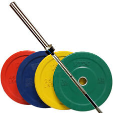 Troy VTX OSS-275SBP Olympic Bumper Plate Set with Olympic GOB-1200 Bar - New