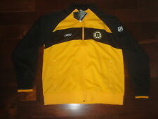 BOSTON BRUINS CCM REEBOK JACKET CHECK FLEECE ZIP UP CENTER ICE NHL HOCKEY NEW