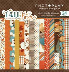 """Photoplay Paper """"Fall Breeze"""" 6x6 Paper Pad 24 Double-sided Sheets Pumpkin"""