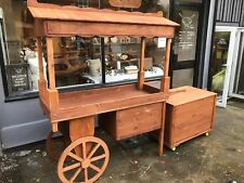 Rustic barrow retail stall market display wedding candy cart with side shelving