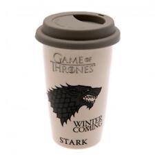 Game Of Thrones Ceramic Travel Mug Stark Official Merchandise