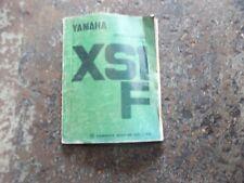 Yamaha XSF1   XSF 1  Service Manual  1ST EDITION 1970 Vintage Book