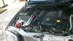 Sport Air Intake System+Dry Filter For 98-00 Mercedes Benz C220/230/280 2.3 2.8