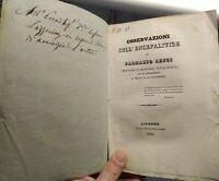 1830 MEDICINA - PALMAZIO LENCI : STUDIO SUI CASI DI ENCEFALITE A LIVORNO