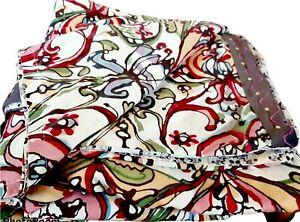 Vintage Paisley Duvet Cover & Shams - Embroidered Border - Boho King Set 3