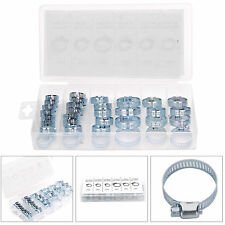 Pack of 34 Pc Assorted Stainless Steel Hose Clamp With No Driver Jubilee Clip