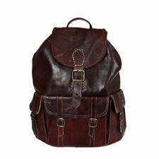 Ziegenleder Rucksack Travel Bag Umhängetasche Leder-Tasche Vintage 04 NEU!
