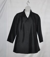 Linea by Louis Dell'Olio Wing Collar Swing Topper Size 1X Black
