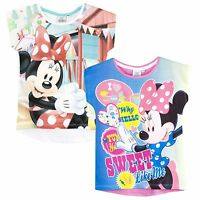 Disney Minnie Mouse Girls Short Sleeve Top T-Shirt 100% Cotton tees New 2017