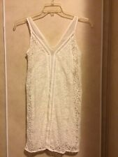 Abercrombie & Fitch Womens White Lacey With Slip Dress Size XS