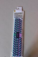 Under Armour UA Non-Slip Headband 3-Pack Purple Blue Pattern Girl's - NEW