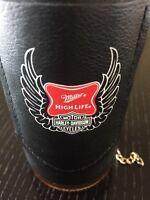 Set Of 2 Miller High Life - Harley Davidson Biker Jacket - Vest Bottle Coozie