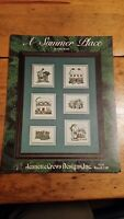A SUMMER PLACE SAMPLER CROSS STITCH PATTERN FREE SHIPPING