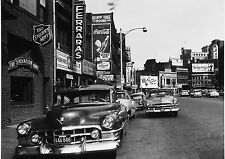1953 Cadillac parked front of Salvation Army store 1957 Mass 8 x 10 Photograph