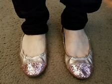 Well Worn Women Size 8 Gold Ballet Flat Shoes
