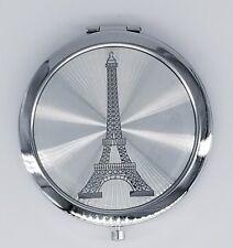 12xParis Eiffel Tower Silver Compact Mirror Quinceanera/Wedding/Sweet 15/15 Años