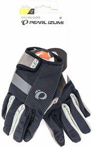 Pearl Izumi ELITE Gel Full Finger Cycling Glove Men MEDIUM Black Road Bike MTB